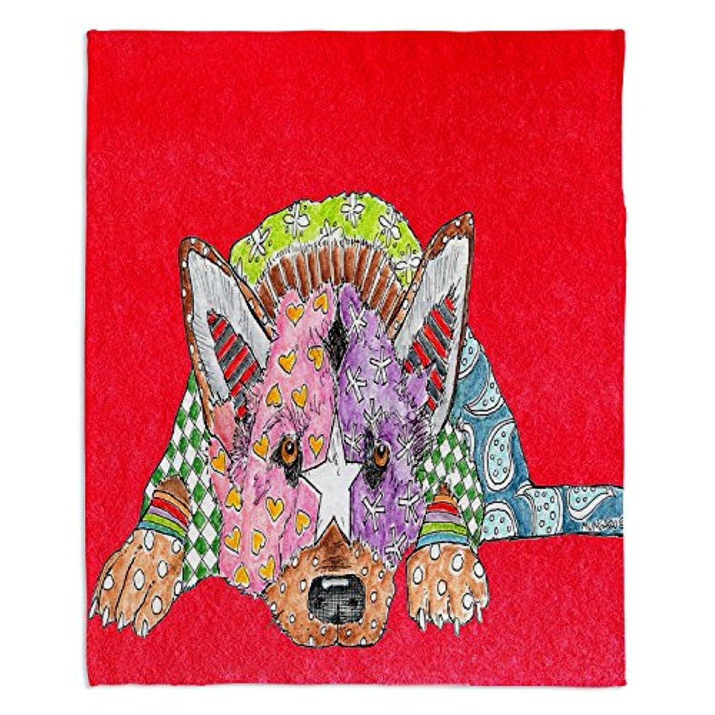 ブランケットウルトラソフトFuzzy 4サイズダイアノウチェ?デザインズ – Marley Ungaro German Shepherd Dogレッドホーム装飾寝室ソファスローブランケット Large 80