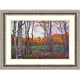 Aspens ' Framedアートプリントby Erin Hanson Size: 24 x 18 (Approx), Matted 3017400