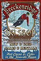 Breckenridge、コロラド–Ski Shop Vintage Sign 16 x 24 Giclee Print LANT-43912-16x24
