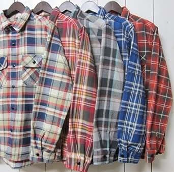 ファイブブラザー ネルシャツ five brother [work shirts][ls][flannel][5] (L, 2.true red)