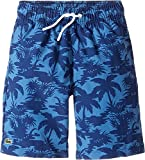 Lacoste Kids Boy's Palm Tree Print Swimsuit (Little Kids/Big Kids) Penumbra/Columbine Swimsuit [並行輸入品]