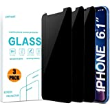 pehael Privacy Screen Protector iPhone Xr, 9H Hardness Anty- Spy Tempered Glass, 3D Touch, Easy Install[6.1 inch](3 Pack)