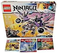 [レゴ]LEGO Ninjago Construction Set Bundle NinDroid MechDragon + 3 Polybag Mini Sets Dareth vs. Nindroid, The Cowler Dragon & Anacondrai [並行輸入品]