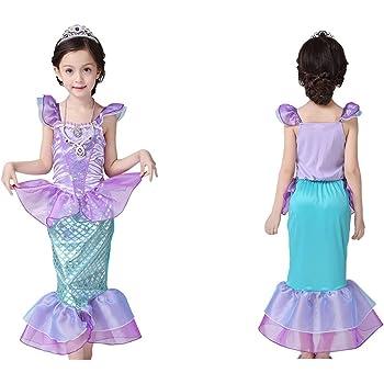 3f9de156d60e1 NOT Home ハロウィンコスチューム 人魚姫 マーメイド キッズ 子供用 プリンセスドレス (M)