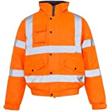 Rimi Hanger High Visibility Waterproof Rain Coat & Trouser Mens Reflective Jacket Trouser S/5XL