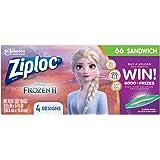 Ziploc Brand Sandwich Bags featuring Disney Frozen Designs, 66 ct
