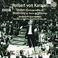 Herbert Von Karajan conducts Mozart Divertimento No.15, Stravinsky Le Sacre du printemps