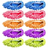 Dusting Mop Slippers Washable Dust Mop Slippers Shoes Cover Microfiber Dust Floor Cleaner for Bathroom Kitchen House Cleaning