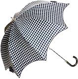 (ムーンバット)MOONBAT ランバン オン ブルー 遮光遮熱 パラソル&雨傘 晴雨兼用 婦人ショート傘 チェック柄にワンポイントリボン