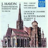 Haydn: Harmony Mass - Te Deum / Piau, Groop, Pr茅gardien, van der Kamp, S. Kuijken
