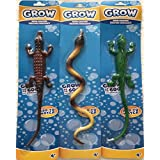[グロークリーチャー]Grow Creature Bundle Lot of 3 s: Brown Alligator ~ Purple Yellow Ske ~ Green Igua Lizard na [並行輸入品]