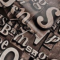 DXG & FXスタイリッシュなアイアンブロック文字壁紙のリビングルームバーcafektv wallpaper-b