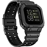for Fitbit Versa Universal Bands, amBand Watch Band Compatible with Fitbit Versa & Versa 2 & Versa Lite, Rugged Silicone Prot