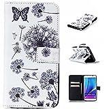 UNEXTATI Galaxy Note 5 ケース 高級 PUレザー 手帳型ケース 液晶保護 カバー カード収納 Samsung Galaxy Note5 用 Case Cover (ホワイト #3)