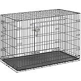 ottostyle.jp 折り畳み式 ドッグサークル (トレイ付き) 大型犬用 幅108cm×奥行き76cm×高さ70cm【ペットケージ、ドッグルーム】