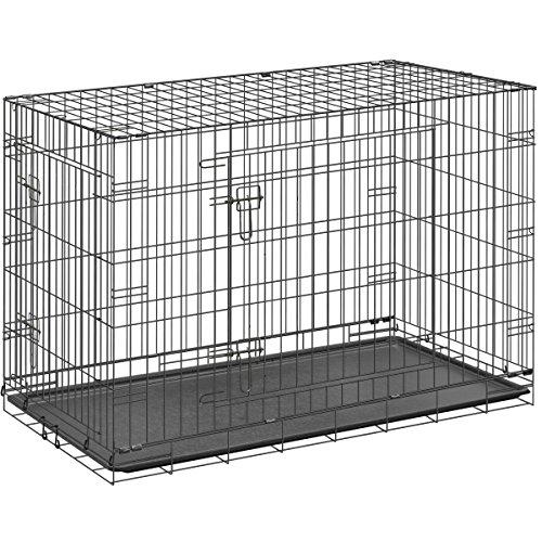 ottostyle.jp 折り畳み式 ペットケージ 【XXLサイズ】 幅106cm×奥行き71cm×高さ76cm 中型犬 大型犬用 ドッグサークル トレイ付き 犬 猫