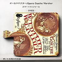 Android M オールドポスター Opera Goethe Wertherスマホケース 手帳型 全機種対応 アイフォン 人気 世界的名画 個性的 最新機種