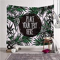 ftmxy 熱帯植物タペストリーアート装飾壁毛布壁掛けタペストリーベッドカバーリビングルームの背景-230X150CM