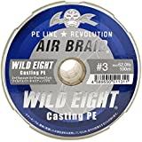 Fishing Fighters(フィッシングファイターズ) PEライン エアブレイド ワイルドエイト キャスティングPE 200m 3号 62lb イエロー&マーキング FF-ABWC200-3.0