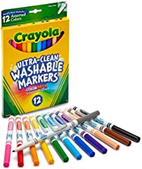 Crayola 587812 Fine Line Ultra-Clean Washable Markers (12 Piece),12 Count,Multi
