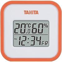 タニタ 温湿度計 時計 カレンダー 温度 湿度 デジタル 壁掛け 卓上 マグネット オレンジ TT-558 OR