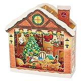 サンリオ クリスマスカード 洋風 ライト&メロディ 立体サンタのお部屋  S6324