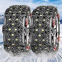 MATCC タイヤチェーン 非金属チェーン スノーチェーン 雪道・砂道・泥道 タイヤ滑り止め 冬の必需品 ジャッキアップ不要 取付簡単 タイヤフルカバー(タイヤ2本分) XF11 日本語説明書付き