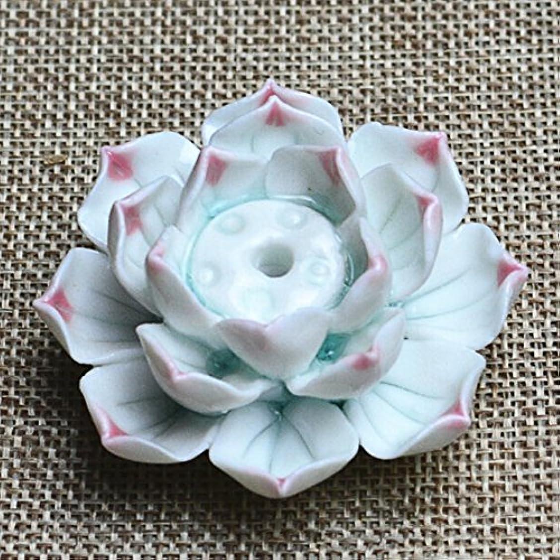 スクレーパー不適切な不適切なLiebeye セラミック 香炉 バーナー スティック ホルダー アッシュ キャッチャー プレート 1/3穴 ピンク ポイントの花