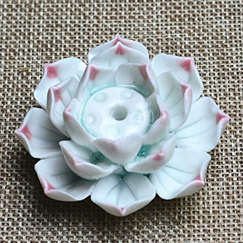 大きなスケールで見ると差別する取り付けLiebeye セラミック 香炉 バーナー スティック ホルダー アッシュ キャッチャー プレート 1/3穴 ピンク ポイントの花