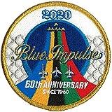 自衛隊グッズ ブルーインパルス 60th ANNIVERSARY 2020ツアーワッペン パッチ ベルクロ付 白