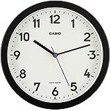 CASIO(カシオ) 掛け時計 電波 ブラック 直径22.4cm アナログ 常時点灯 夜間秒針停止 置き掛け兼用 IQ…