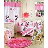 Disney Baby Minnieマウス花ベビーベッド寝具セット Curtain ピンク DAME-7297219048876-CURTAIN
