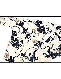 【宝尽くし?小槌?白?生成り】 義若オリジナルの鯉口シャツ単品 男女兼用 (3L 巾広サイズ)
