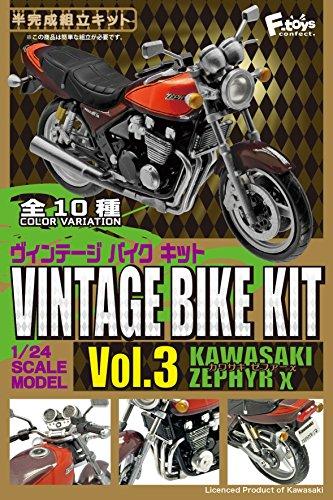 1/24 ヴィンテージ バイクキット Vol.3 カワサキゼファーX 10個入りBOX (食玩)