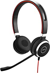 Jabra 6399-823-109 Evolve 40 MS Headset - Microsoft Certified Headphones for VoIP Softphone with Passive Noise Cancellation -