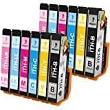 BIGGER エプソン EPSON ITH 6CL 互換 インクカートリッジ (BK/CY/MG/YL/LC/LM) 1…