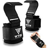 Professional Lifting Straps and Heavy Duty Hooks | 7mm Think Neoprene Padded Wrist Wraps for Weightlifting Support & Grip - I