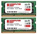 Komputerbay 8GB 1333MHz ノートPC用メモリ 204Pin SO-DIMM DDR3-1333 PC3-10600 4GB×2枚組 永久保証