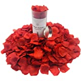 WAKISAKI Premium Aritificial Fake Rose Petals (Hand-Separated, Ready-to-use, Pre-Ventilated, Deodorized) Romantic Night, Wedd