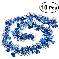 BESTOYARD キラキラモール パーティーモール パーティー お祝い クリスマス 結婚式 新年 誕生日 部屋 デコレーション 装飾 10本(青)