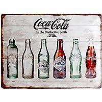 Nostalgic Art ノスタルジックアート ティンサイン コーク ボトルデザインヒストリー 23207 30×40c