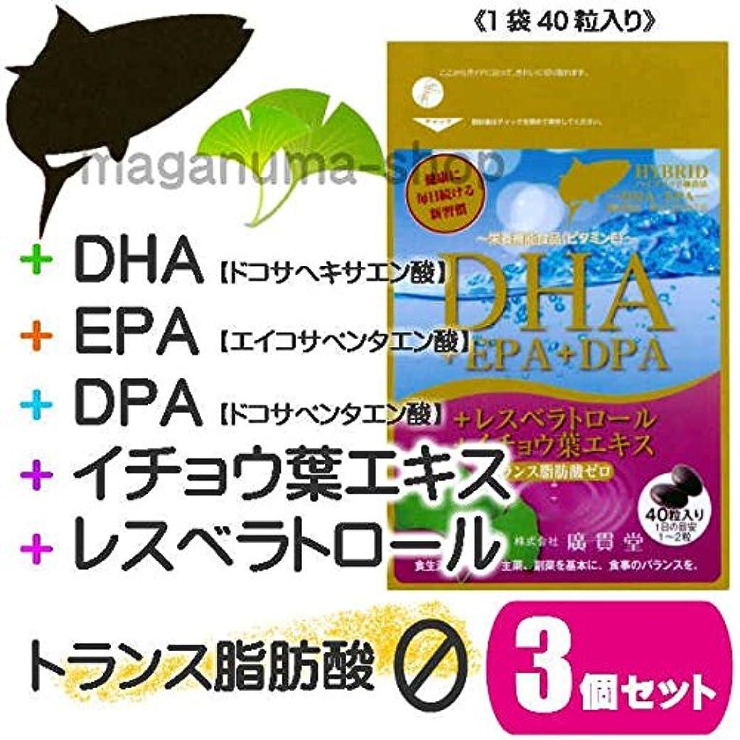 時計回り例示する天のDHA+EPA+DPA+レスベラトロール+イチョウ葉エキス 3個セット