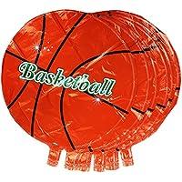 Dovewill 全3パタン 10個入り バルーン 箔 ホイル 風船 子供 誕生日 パーティー スポーツスタイル 装飾 飾り - バスケットボール