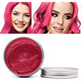 MQ Temporary Hair Color Wax, 8 Colors Professional DIY One Time Hair Wax Dye Styling Cream Mud, Washable Hair Paint Wax For P