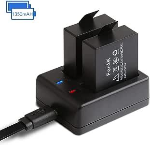 APEMAN アクションカメラ 専用互換バッテリー 1350mAh充電式バッテリー2個 急速デュアル充電器 miniUSBケーブル