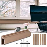Baskiss 6 Packs 240cm Cable Management Raceway Under Desk Wire Management Cord Organizer and Hider, Cord Cover, Concealer for