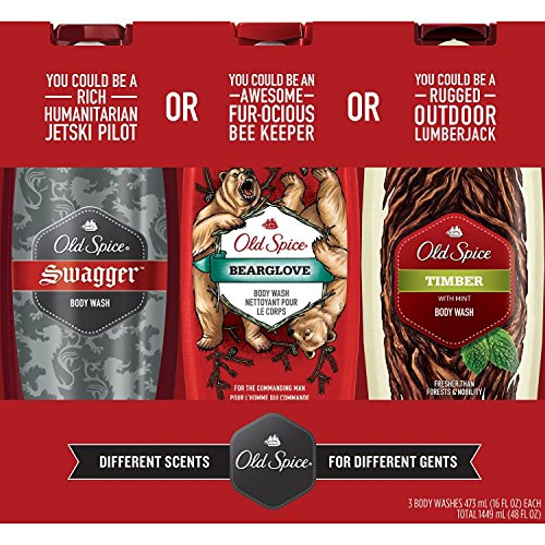 セラフ自宅でお風呂Old Spice Body Wash Variety Pack (16 fl. oz., 3 pk by Procter & Gamble [並行輸入品]