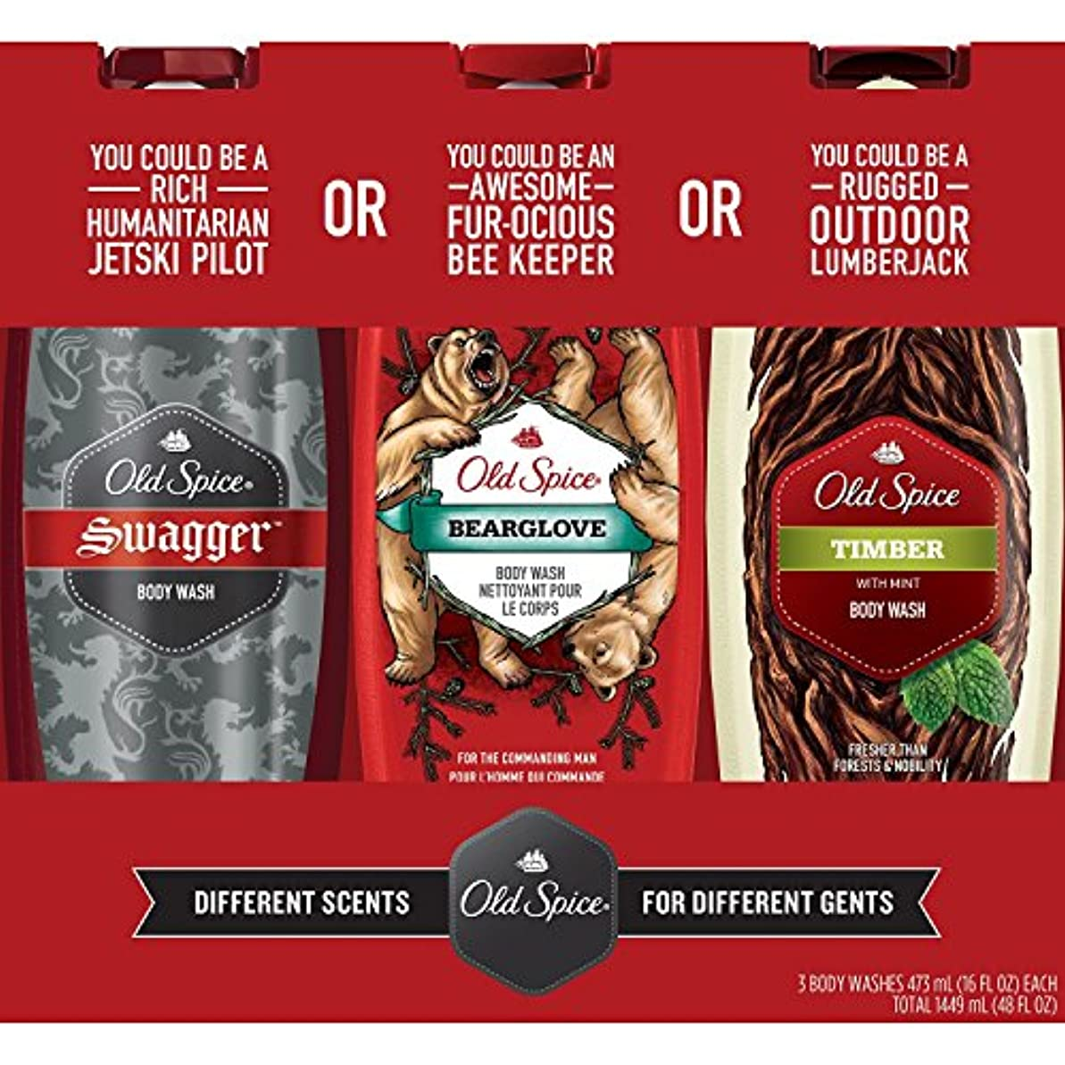 混沌条約触手Old Spice Body Wash Variety Pack (16 fl. oz., 3 pk by Procter & Gamble [並行輸入品]