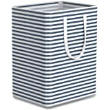 Tribesigns 96L Extra Large Laundry Hamper Collapsible Laundry Basket with Handle 4 Detachable Rods Cotton Linen Foldable Bath