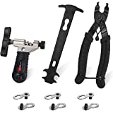 WOTOW Bicycle Chain Repair Tool Kit, Cycling Bike Master Link Pliers Remover & Chain Breaker Splitter Cutter & Chain Wear Ind